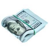 Bundle of new dollars — Стоковое фото