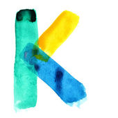 Colorful watercolor alphabet — Stock Photo