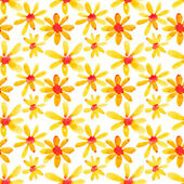 Yellow flowers seamless pattern — Stock Photo
