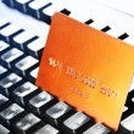 Credit card on keyboard — Stock Photo #4551514