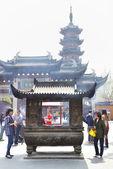 Jingan buddhist temple — Stock Photo