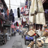 Old narrow street in Shanghai — Stok fotoğraf