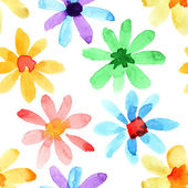 Watercolor flowers seamless — Stock Photo