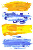 Colorful brush strokes — Stock Photo