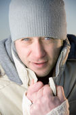 Winter male portrait. — Stockfoto