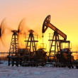 Stock Photo: Oil pumps