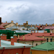colored roofs — Stock Photo