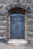 Vyborg Castle door — Stock Photo
