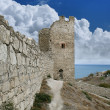 genoese fortress in town of feodosia — Stock Photo