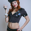 Beauty sexy police woman - Stock Photo