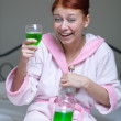 Alcoholic woman - Stock Photo