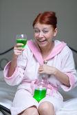 Alkoholické žena — Stock fotografie