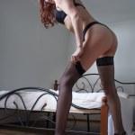 Beauty woman in bedroom — Stock Photo #27154063