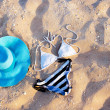 Foto Stock: Swimsuit on sand