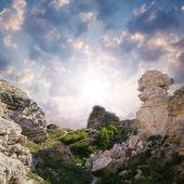 Beautiful cliffs at sunset — Stock Photo