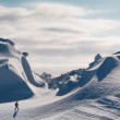 snow dunes — Stock Photo