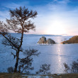 Lake Baikal in winter — 图库照片