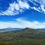 Panarama of mountain valley — Stock Photo