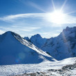 Snow mountain — Stock Photo