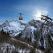 Ropeway in snow mountain — Stock Photo #38709215
