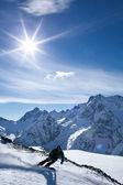 Winter sport snowboarding — Stock Photo