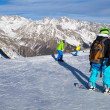 Stock Photo: Winter sport snowboarding