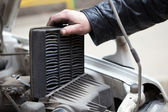 Replacing the air filter — Foto Stock
