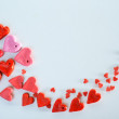 Red heart background — Stock Photo #40474869