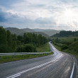 Road in mountain at Altay — Stock Photo