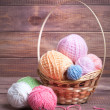 Stock Photo: Balls of yarn for knitting