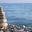 Spa stone on sea coast — Stock Photo #42398357