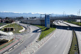 Road junction in Sochi, Russia — Stock Photo
