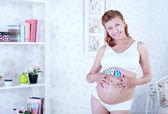 Güzellik hamile kadın — Stok fotoğraf