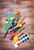 Items for children's creativity — Stock Photo
