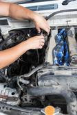 Repair of high pressure fuel pump — Stock Photo