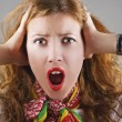 Beautiful shocked woman — Stock Photo #1554075