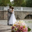 Wedding flowers bouquet - Stock Photo