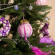 Stock Photo: Christmas decoration on tree