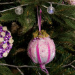 Christmas decoration on tree — Stock Photo
