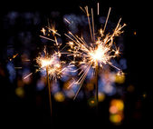 Holiday sparkler — Photo