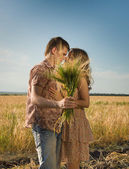 Loving couple kissing — Stock Photo