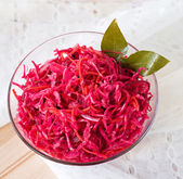 Salad of cabbage and beets — Stock Photo