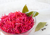 Salad of cabbage, beets and carrots — Stock Photo