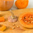 Stock Photo: Sliced Pumpkin