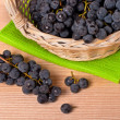 Stock Photo: Wine grapes in basket