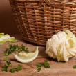 Cauliflower and parsley — Stock Photo