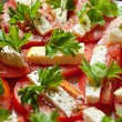 Tomatoes and mozzarella — Stock Photo #35684763