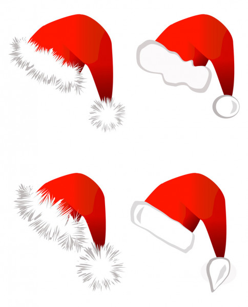 Santa Claus hat — Stock Vector #3801371