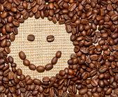 Coffee beans smile — Stock Photo