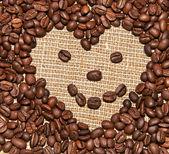 Coffee heart smile — Stock Photo